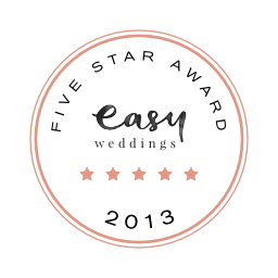 Easy Weddings 5 star award 2013