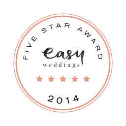 Easy Weddings 5 star award 2014