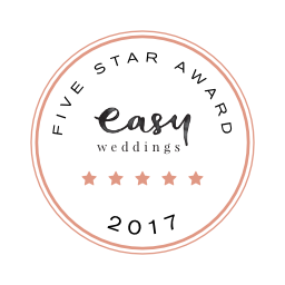 Easy Weddings 5 star award 2017