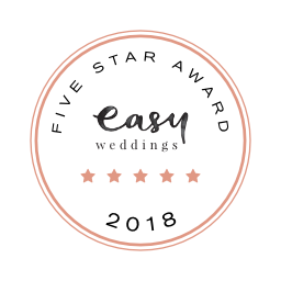 Easy Weddings Badge Award Five Star 2018